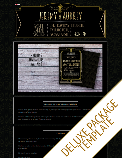 Wedding Website Theme 5